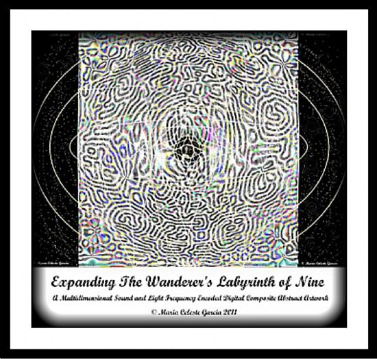 Expanding The Wanderer\'s Labyrinth of Nine (framed)